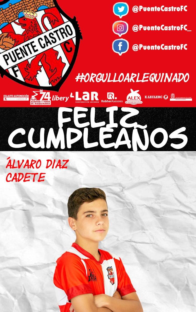 🎂 ¡FELIZ CUMPLEAÑOS!  📝 Hoy, 21 de enero, estamos de celebración con Álvaro Díaz (Cadete), que cumple 1️⃣5️⃣ años.   #OrgulloArlequinado 🔴⚪ #VaPuenteVa #SomosFútbol #SomosFormación