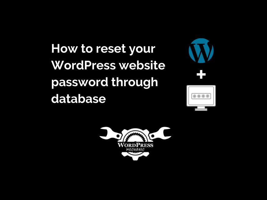 Learn how to reset your WordPress website password through a database :   #wordpress  #wordpressblog  #wordpresswebsite  #development  #thursdaymorning  #thursdaymorningMood  #ThursdayThoughts