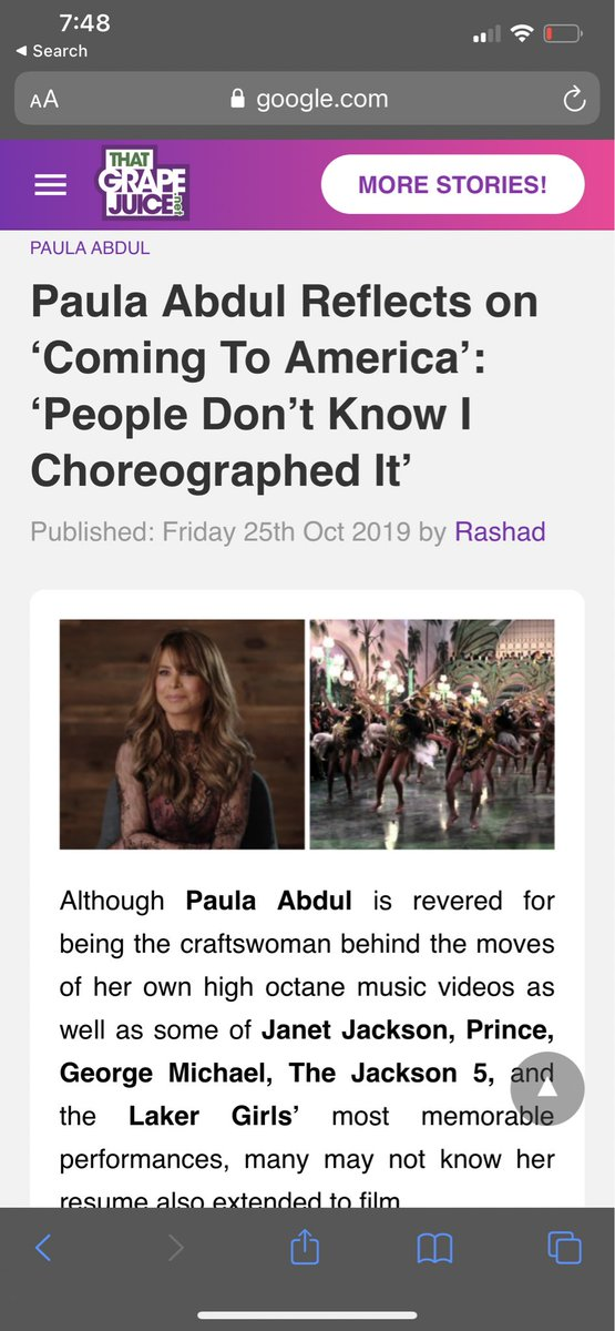 @PaulaAbdul she don't get too much credit for the greatness she creates ! Shoutout to #paulaAbdul! I was just watching #comingtoAmerica and fun #fact today! #EddieMurphy #JanetJackson moves thank u Paula #icon #dance