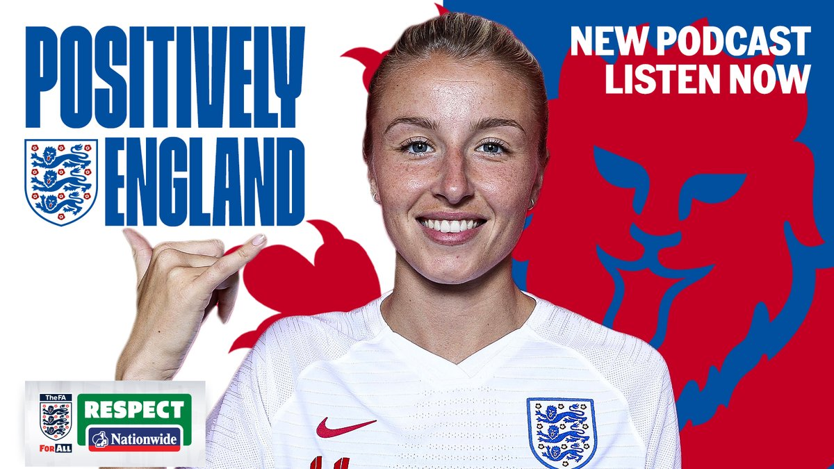 NEW PODCAST 🎉 POSITIVELY ENGLAND | EPISODE 2 🎙️  Positively England is a brand-new podcast with the #ThreeLions and #Lionesses as part of the @FA's 21 Days of Positivity.  Next Up: @Lionesses' @leahcwilliamson  Listen here 👉   #WeOnlyDoPositive