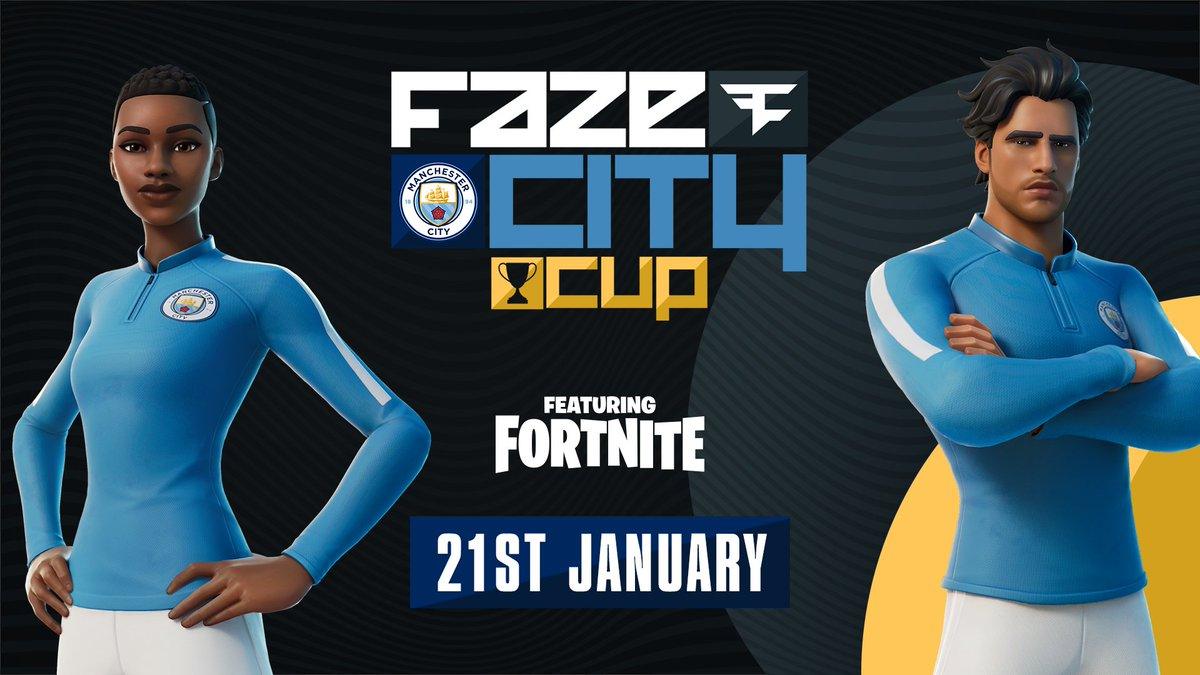It's your last chance to register for today's #FaZeCityCup featuring @FortniteGame! ⏰  Don't miss out on being in the mix to win some great prizes 🤩  Register now ➡️    🔷 #ManCity |