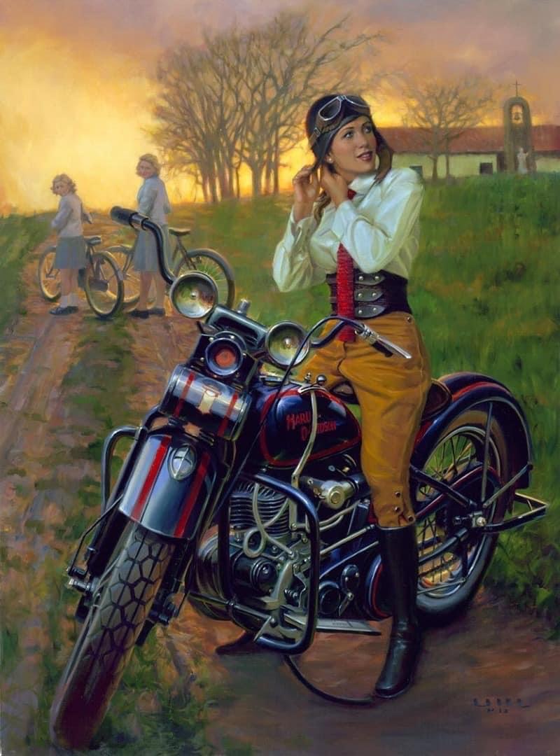 """Fuel For The Soul"": Outstanding Nostalgic Motorcycle Paintings Of David Uhl  https://t.co/GxAQOFvElu  #victorian    #steampunk, #fantasyart #fantasy  #art  #amazing #photooftheday   #photography  #illustration #conceptart #mood #dieselpunk #motorbike #harleydavidson  #bikelife"