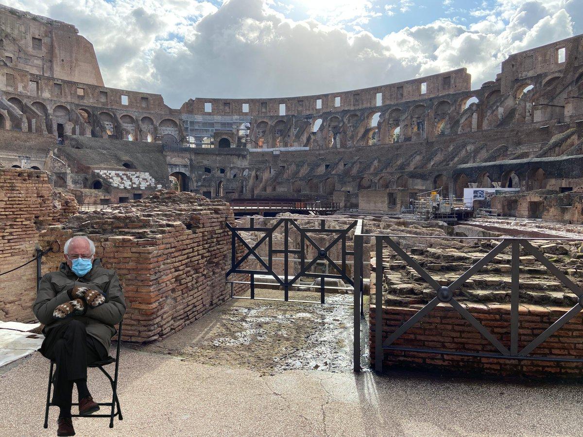 When in Rome do as #BernieSanders does
