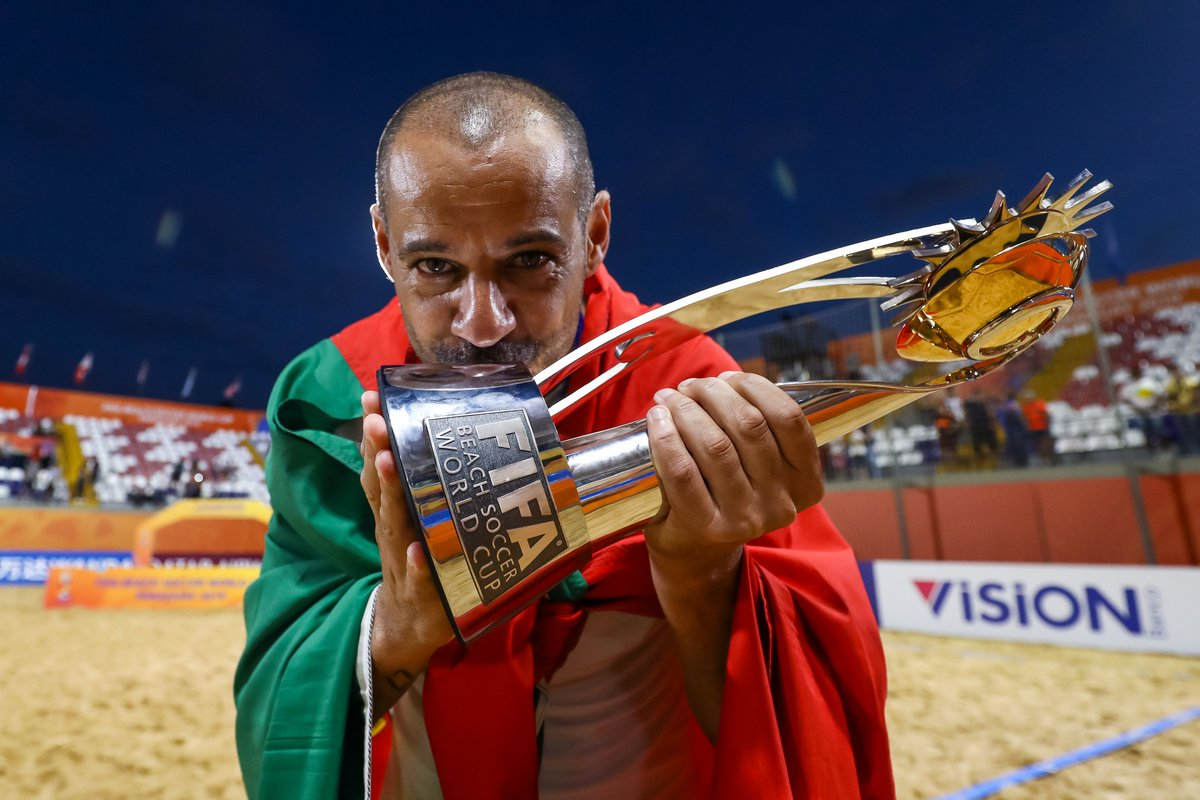🎁 Happy birthday to a man who ended arguably the greatest beach soccer career ever in the best way possible. Have a great one, Madjer 🌟  @Mad7er7 | @selecaoportugal | #BeachSoccerWC