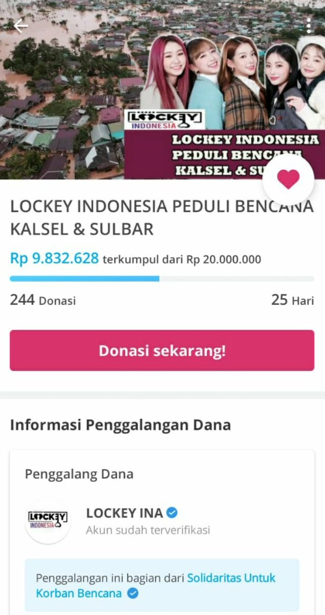 Donation Update Today [21st January 2021] Calling all Lockey   1You can check this link ! To send our prayers for the people who are affected by severe flood in South Kalimantan and powerful earthquake in West Sulawesi https://t.co/RGZvEtlyXK  @SNProtector @5ecretNumber_ID https://t.co/H5zyhzprzc