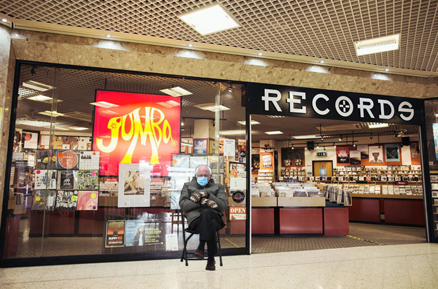Bless his heart, Bernie Sanders is already wrapped up and in line for @recordstoreday @RSDUK 2021.  No-one's told him it's not until June.  #BernieSanders