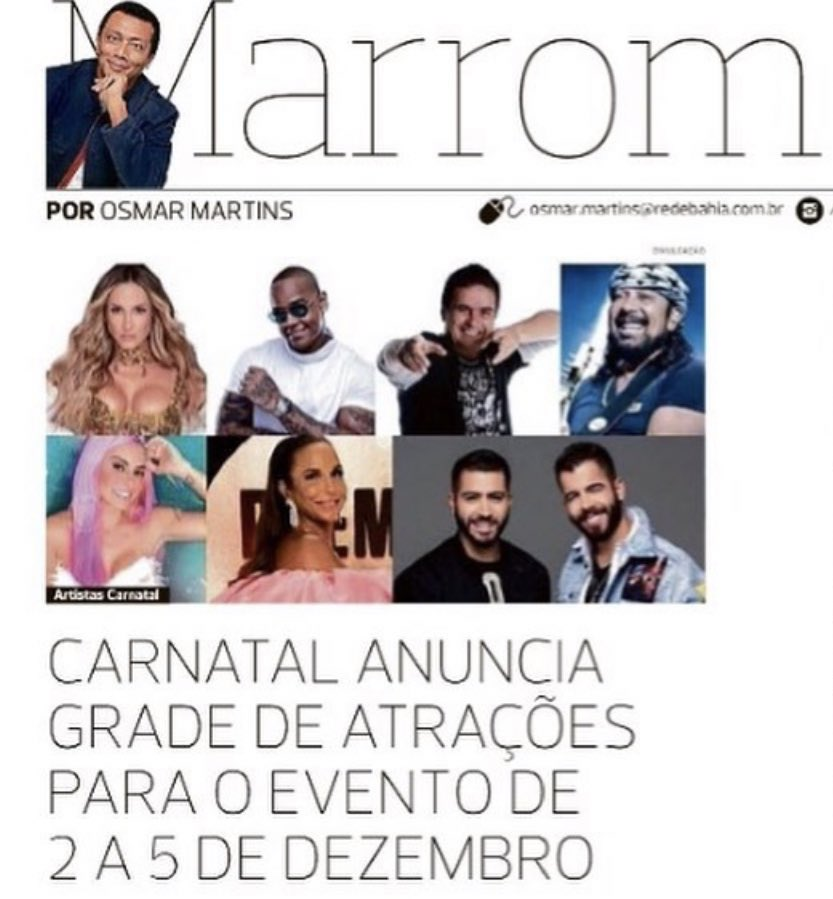 Se @OsMarrom falou , tá falado. 🎊🎉😍 #Carnatal #micareta #carnatal2021 #ivetesangalo #alinneRosa #bellmarques #claudialeitte