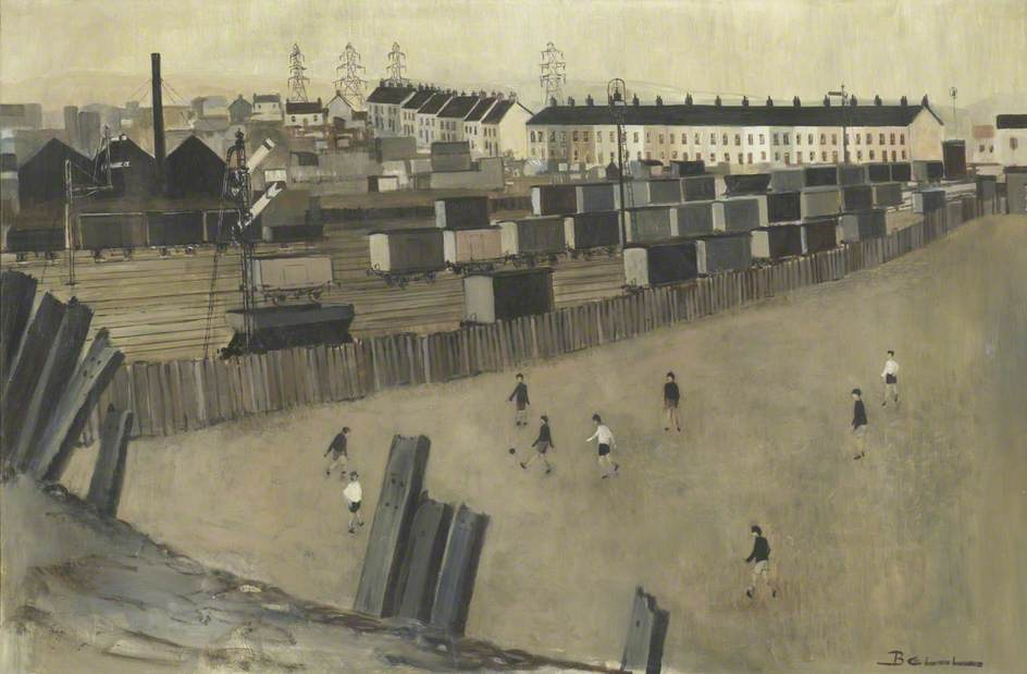 Boys Playing Football, William Gregory Bell, 1969. https://t.co/Q2VMNE8s7M