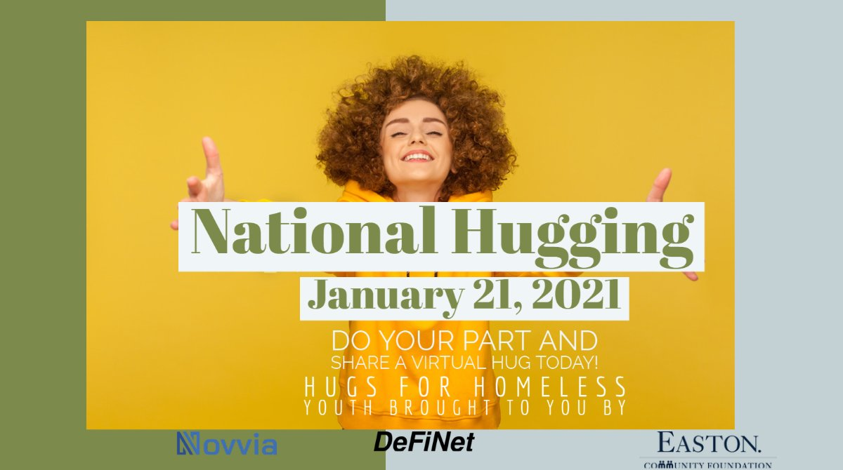 Hugs are free today - and every day! Come and get your hug! #NationalHuggingDay Get our free app to share hugs with your loved ones:   For every hug shared today, our sponsors will donate $1 to local homeless youth shelters. #HugsForHomelessYouth