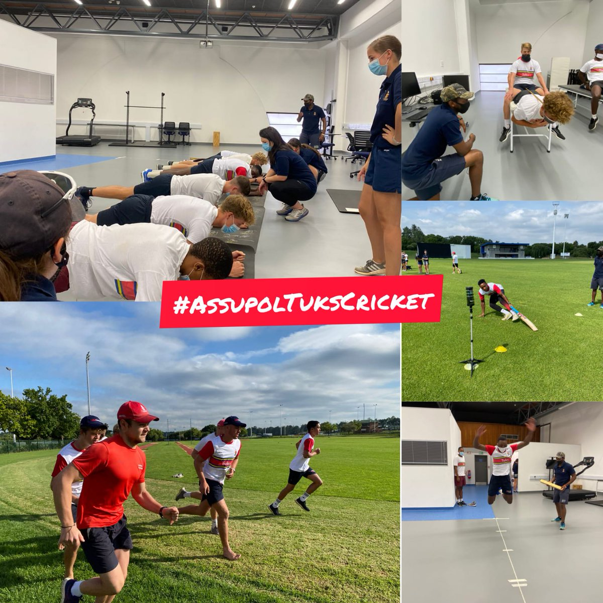 #HighPerformanceCentre: #ThankfulThursday  #AssupolTuksCricket has started the new year with fitness tests focusing on:  ☑️ Aerobic fitness ☑️ Co-ordination ☑️ Flexibility ☑️ Speed ☑️ Strength & power  All thanks to the SEMLI team based at the hpc, for conducting the tests 😀🏏