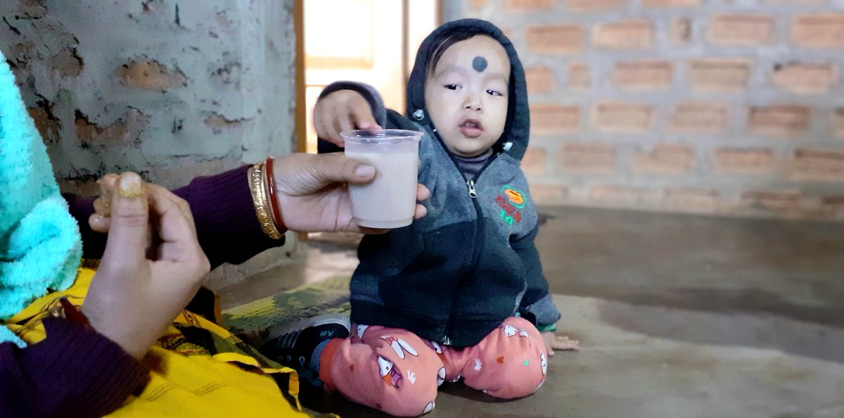 Aa a part of tradition and culture, on the occasion  of #Bihu celebration , a  tribal mother introduces  rice beer to  her 1 year old kid to taste and thus  complete his first Bihu celebration. Rice Beer is the most important part of tribal society for all auspicious occasion.