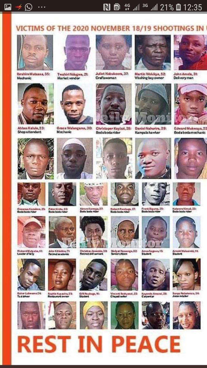 @eastonendyabasa @Sasha_humble @ssebunyashaf2 @HilarysTake @AlbertKJ3 @SimonSebadduka @khoi_sharon Some Innocent Ugandans who have been Brutally Murdered recently by UG State House Agents for partispating in 2021 Presidential&Parliamentary elections of the