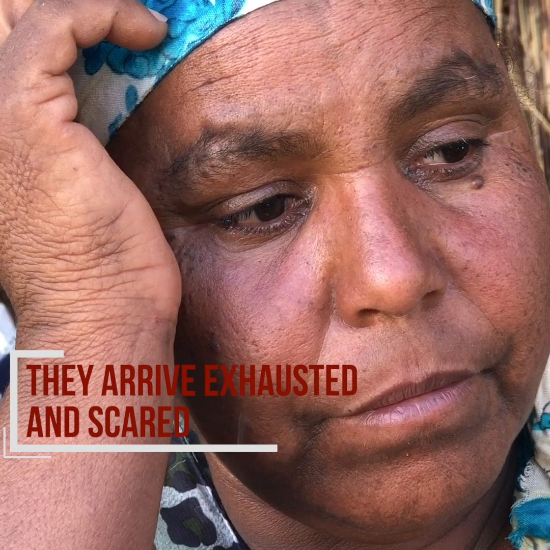 """People felt hopeless saying we are all going to die"".  Over 55,000 people have fled Tigray, Ethiopia for Sudan.  This is Ametechiel's story."