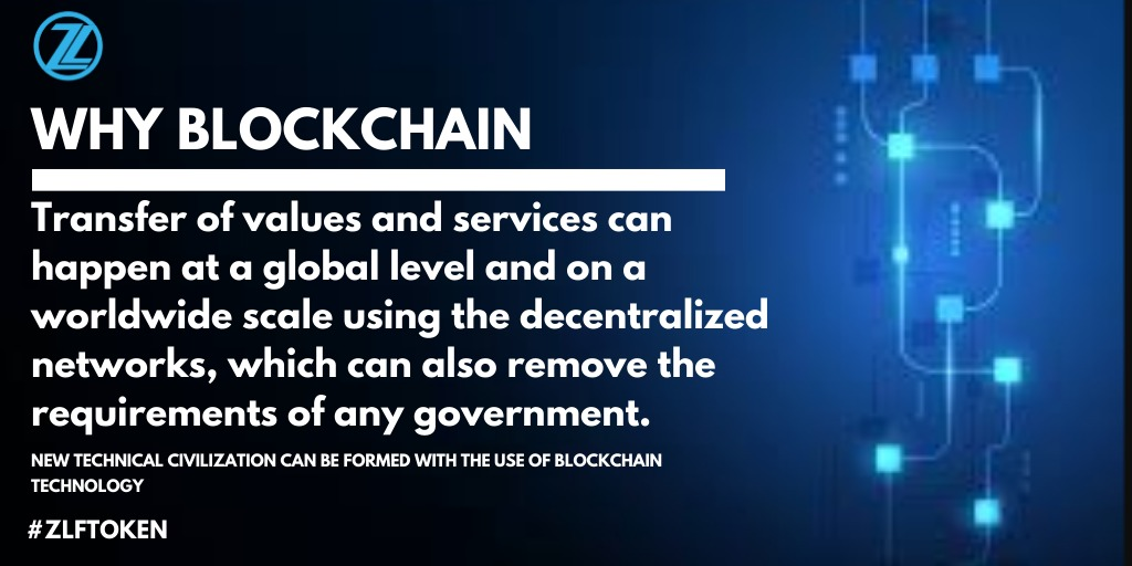 Why Blockchain by ZillonLife   Blockchain allows transfer of values & services at a global level which can remove the requirements of any government.  #ZLF #Blockchain #thursdayvibes #cryptocurrency #GlobalGoals #thursdaymorning #finance