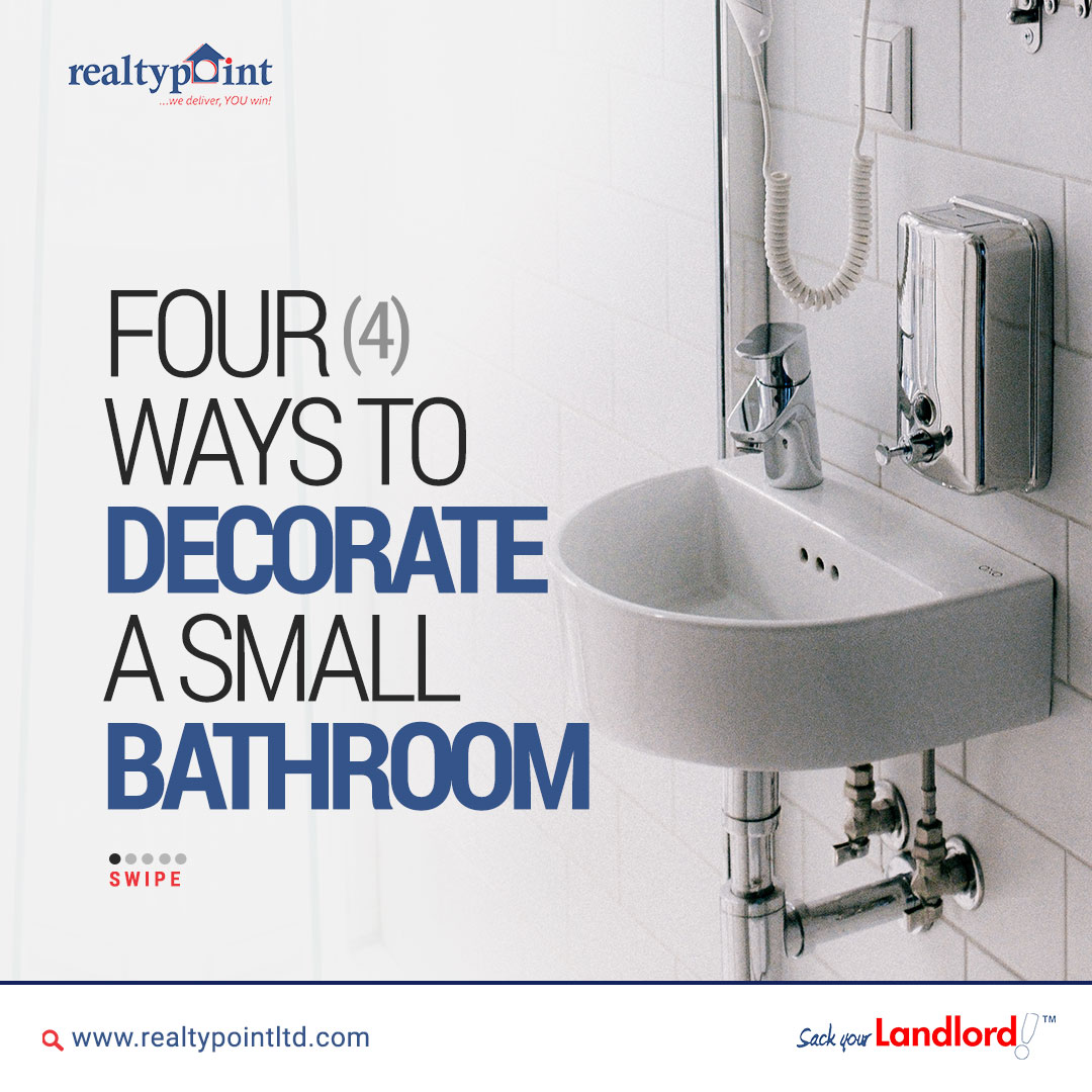Here are 4 simple ways to beautifully decorate your bathroom.  This technique will help you utilize your small space and keep your bathroom tidy.  #interiordecor #bathroomdecor #thursdaymorning #TbajLiveAtPayporteBenin  #InaugurationDay #LekkiMassaccre  #sackyourlandlord