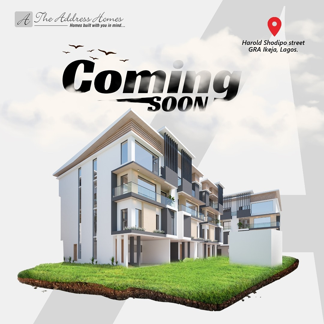 The Address Homes is coming to the mainland... (Harold Shodipo Street, GRA Ikeja, Lagos)  This lovely edifice comes with a  - Communal Swimming Pool - Fitness Centre  - Security Personnel - Green Area and lots more...  #thursdaymorning #ThursdayWisdom