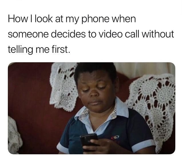Hope I am not the only one that does this... #Howrude #yourequestfirst #Videocall #Thatlook #ThursdayThoughts @Gina4Gina @CraigMrbes01 @HellsMichelles @warvol