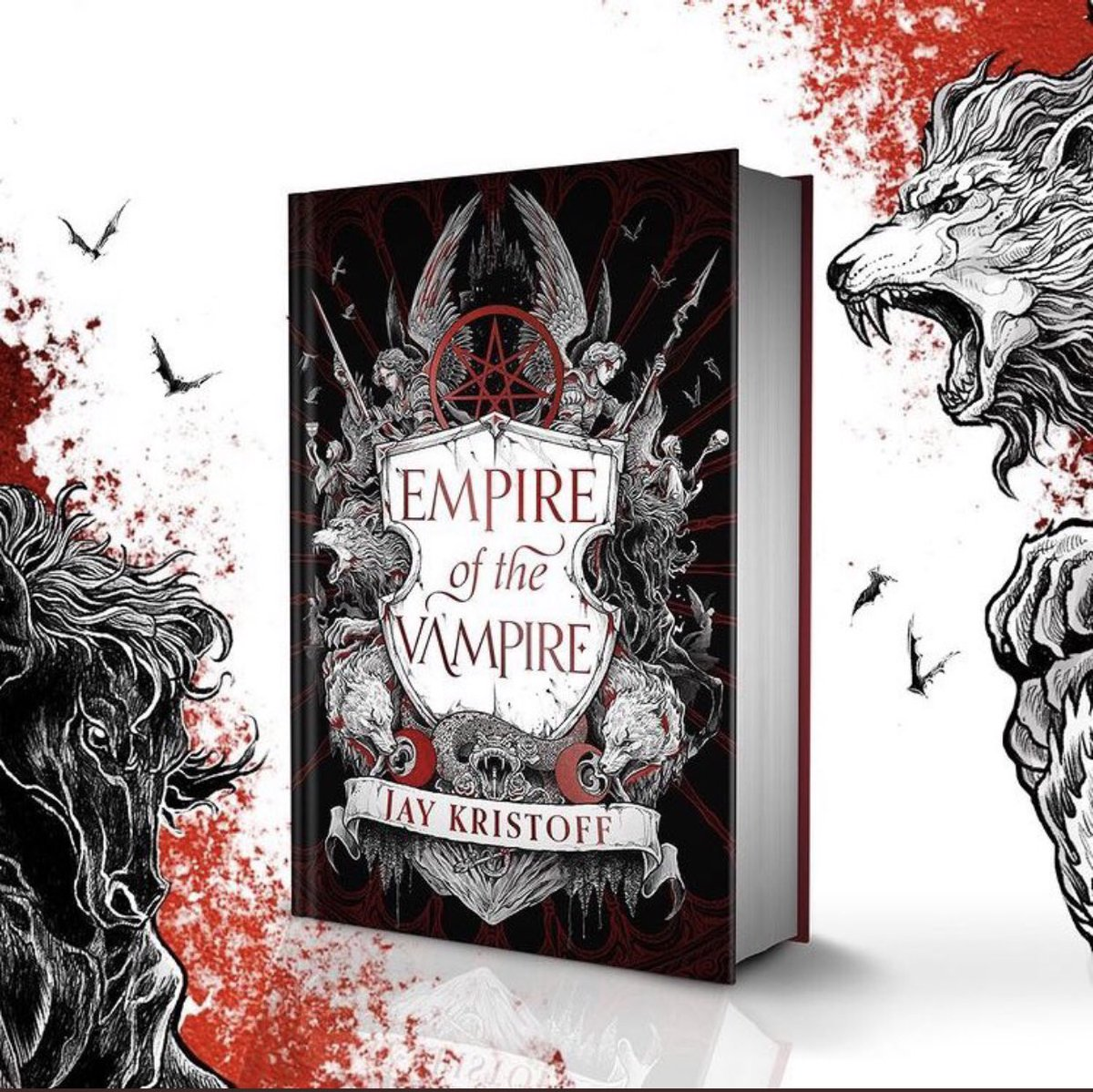Empire of the Vampire is one of my highly anticipated releases of 2021 and look how gorgeous the cover reveal is!   🖤🦇 The closeup is even better for seeing the details!  @misterkristoff is having an ARC giveaway too,  check out  for details!!    #eotv