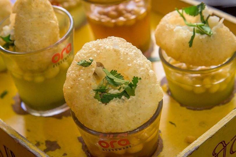 Sweet, slightly spicy, and totally delicious. Enjoy our Chatak Matak Chaats! PANI POORI SHOTS, SEV POORI. Visit our website at  #restaurant #food #foodie #instafood #bar #dinner #cafe #delicious #foodlover #lunch