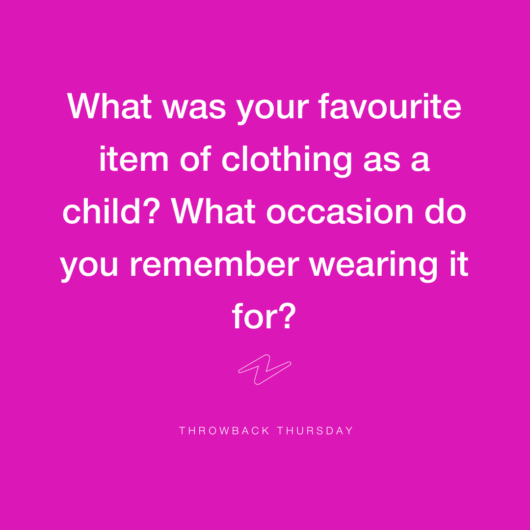 We know that through these tough times we've got to keep looking forward, but it's always nice to have a look back too! We all had a favourite outfit as a child, whether you loved to wear a tutu to the supermarket or a cowboy hat to school, share with us those precious memories!