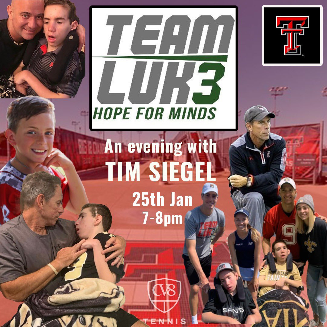 We are delighted to be welcoming @TimSiegelTTU to speak to us on Mon 25th. Tim is a former professional player, successful coach & now the Executive Director of Team Luke Hope for Minds. He has an inspirational story to tell & many great messages to give.  Open to ALL...#cv8grit https://t.co/zzHbjANSbO