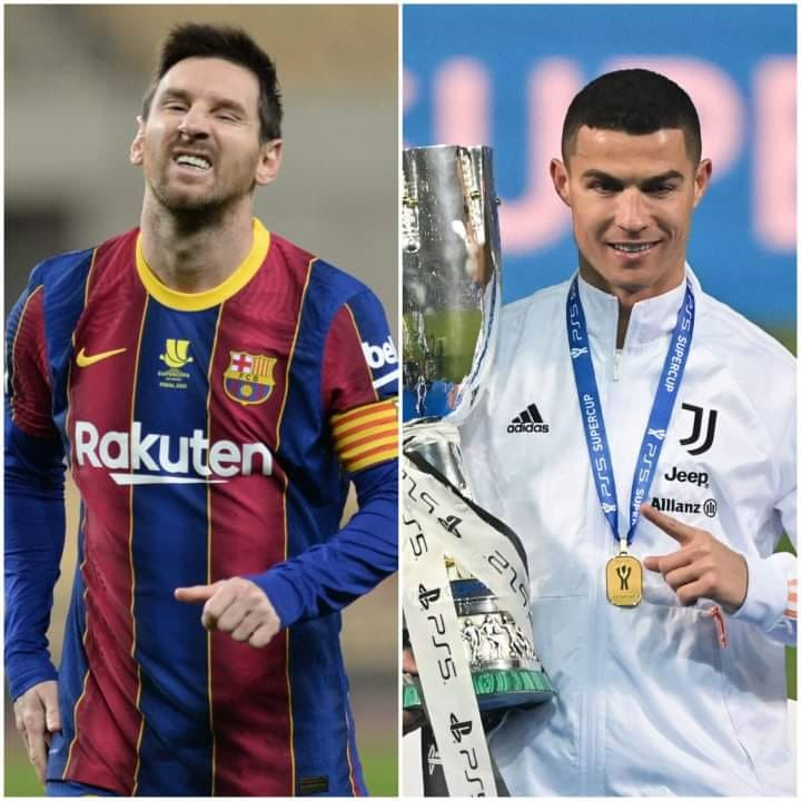 كأس السوبر الإسباني: برشلونة يخسر + ميسي يُطرد 🙃 كأس السوبر الإيطالي: يوفنتوس ينتصر + رونالدو يسجل 🏆 هنا الفارق 👌 https://t.co/DMkCARPR7g