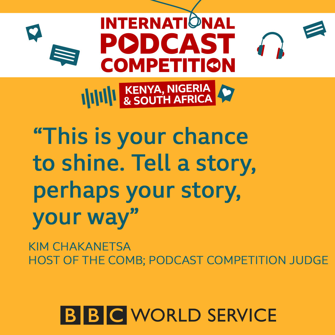 The clock is ticking. Our International Podcast Competition closes tomorrow! ⏰1300GMT ⏰  If you're in Nigeria, South Africa or Kenya, submit your podcast idea and win the chance to make it with the BBC.  More details: