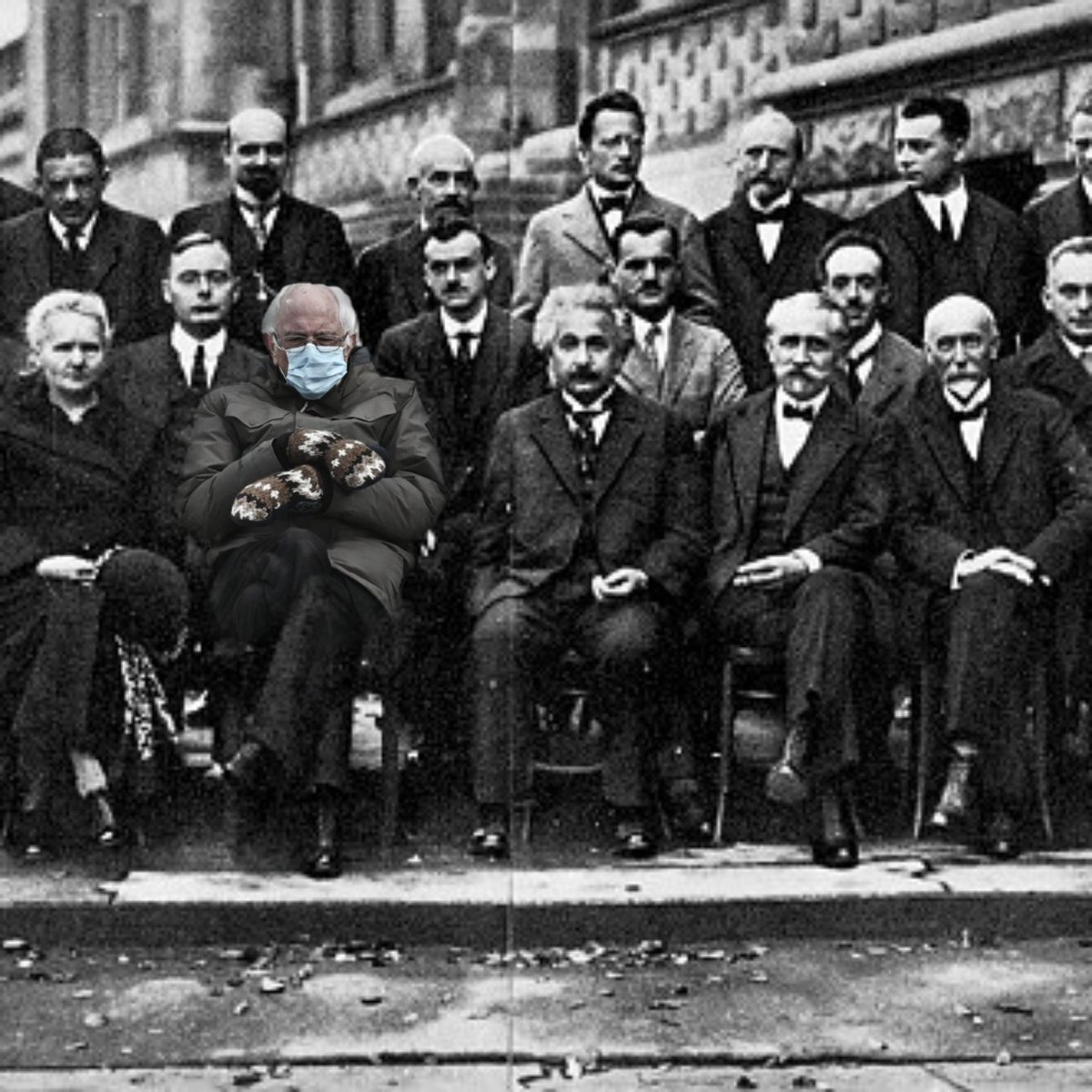 Just wanted to contribute to the cause 😂   #BernieSanders #Bernie #BernieMeme #BernieSits #berniesandersmeme #Berniememes #Einstein #USA #usacapitol