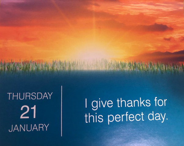daily affirmation calendar on point today #SunriseCelebration