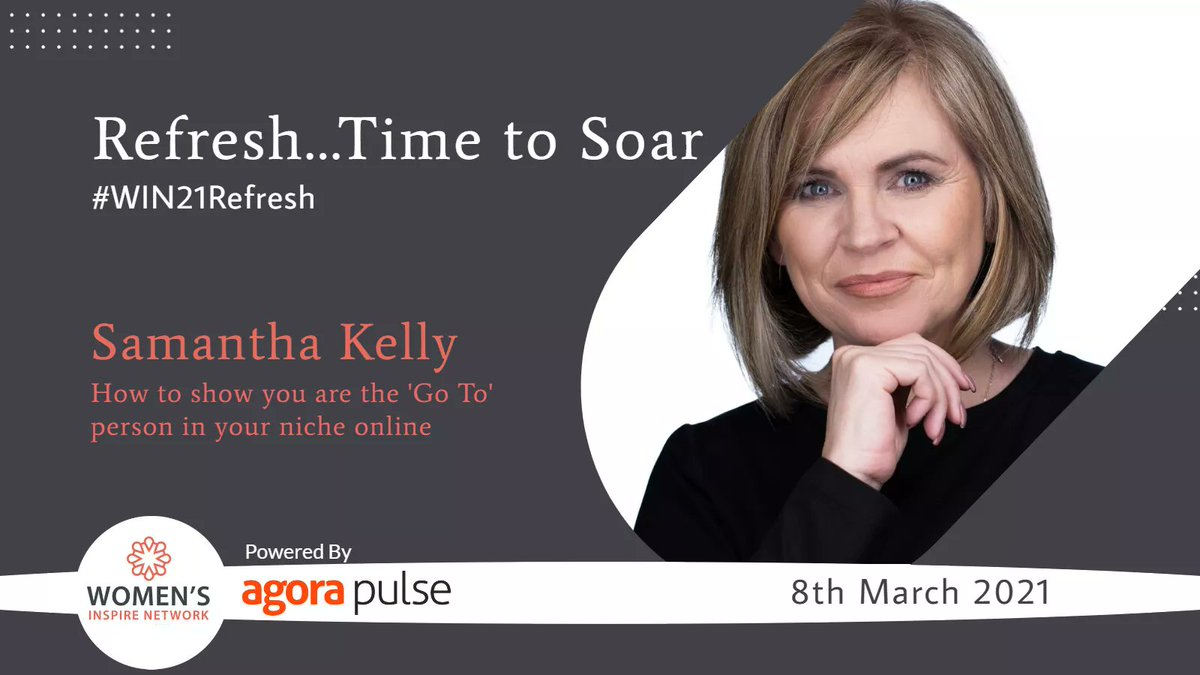 If you would like to network, get more sales and learn lots of new skills then come to my #Win21Refresh event on #Internationalwomensday - guys you are welcome too! Tickets only €20 plus VAT - @WomensInspireIE event