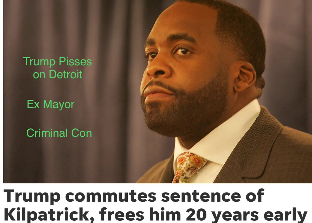 #ThursdayThoughts #thursdaymorning #thursdayvibes                      🇺🇸Take That Detroit Voters🇺🇸  Convicted Democratic mayor guilty of stealing from bankrupt Detroit gets pardoned by GOP conman Trump.