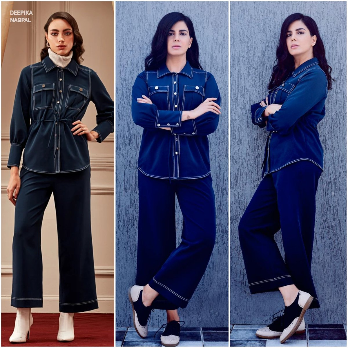 ▪️@IamKirtiKulhari begins #TheGirlOnTheTrain Film Promotions wearing a co-ord set by #LabelDeepikaNagpal  Styling - Pranay Jaitly & Shounak Amonkar  #OOTD #KirtiKulhari #TGOTT
