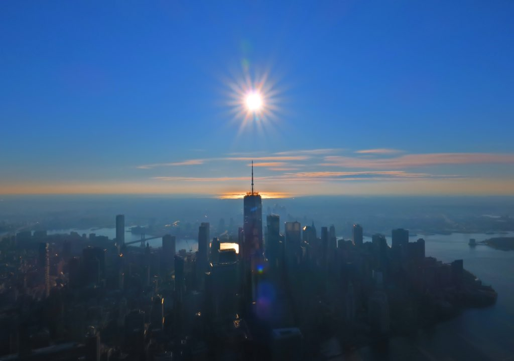 """From @wcbs880 #Chopper880: """"Now the night is coming to an end / The sun will rise, and we will try again...""""; 01.21.21; #NYC"""
