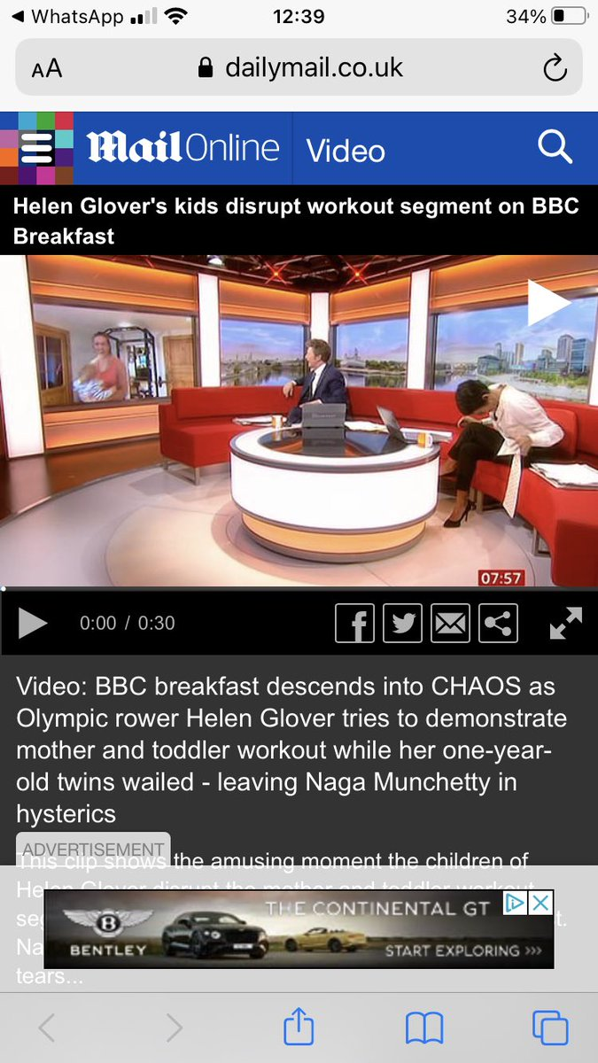 Can't thank you enough for the brilliant feedback from this morning's @BBCBreakfast interview. For those who missed it- what was supposed to be a segment on exercising with children descended into chaos 🙈😅🤦♀️ but I've had the loveliest comments which have made me laugh so much!