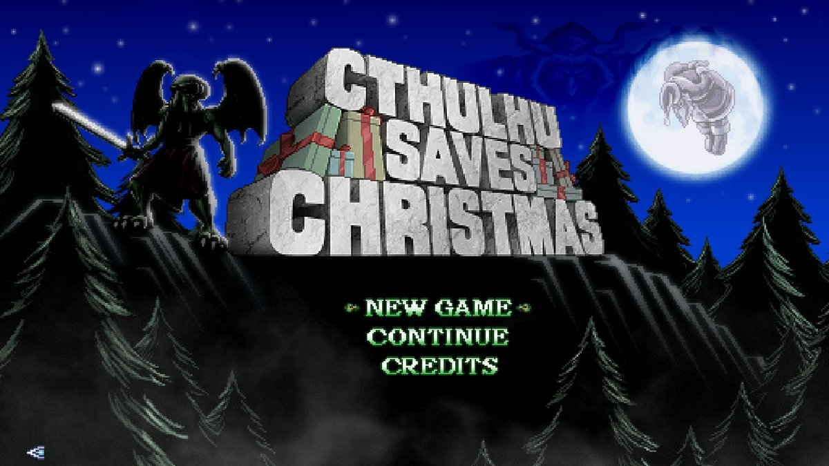 Completion #5 Cthulhu Saves Christmas. Was around 3 hours. Had lots of Elements from Cosmic Star Heroine and was quite funny. #1FinishAWeek