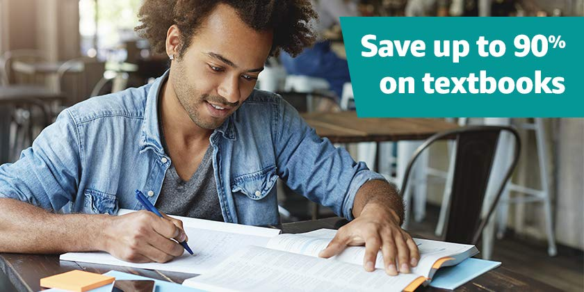 Save on cheap new and used textbooks as you head back to class!  Available in the US only.