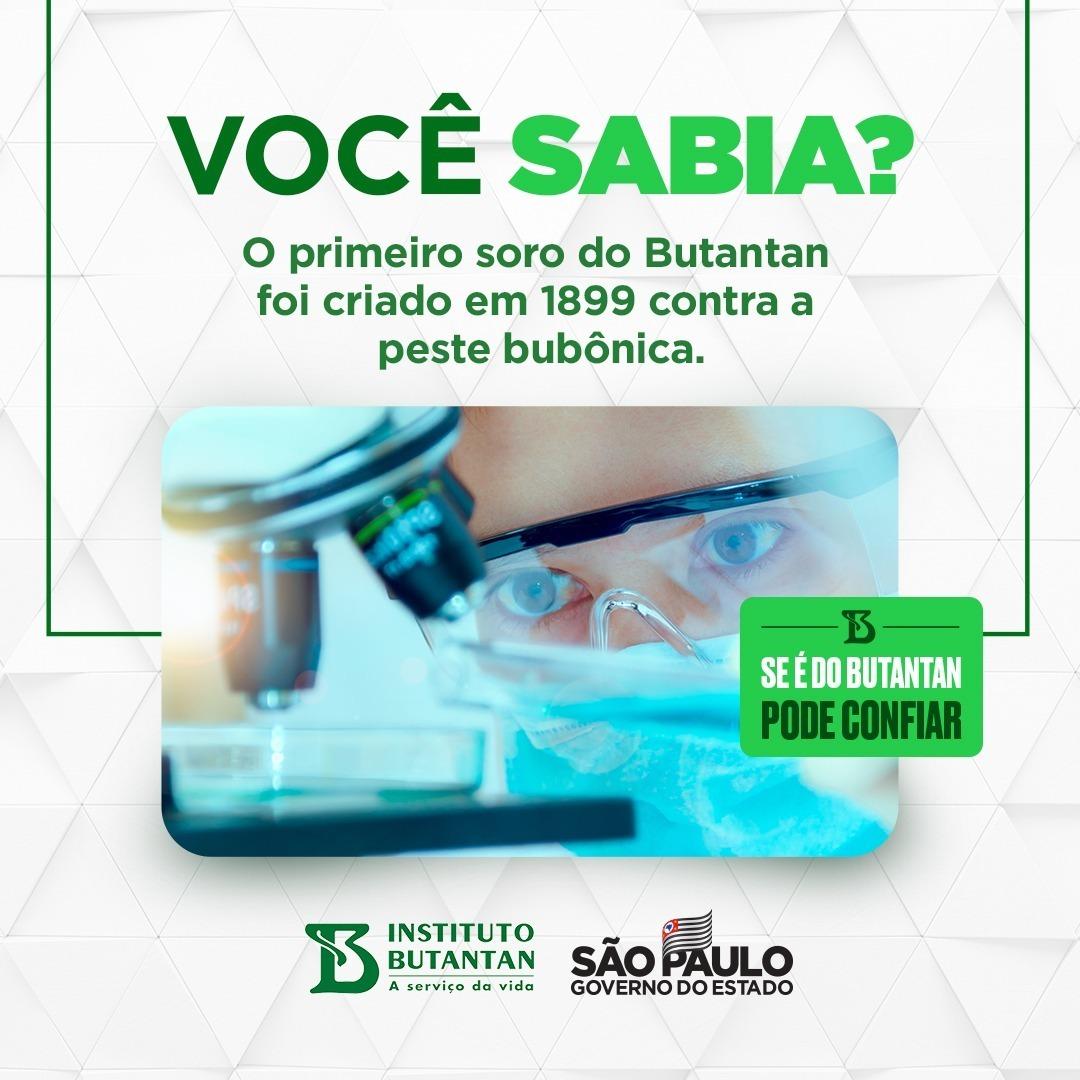 Desde que desenvolveu o soro contra a peste bubônica, há 122 anos, o Butantan mantém o compromisso de salvar vidas, como se vê agora com a vacina contra a Covid-19. É a ciência em favor do Brasil. #podeconfiar #compartilheobem #édoButantan #VacinadoButantan #Butantan120Anos