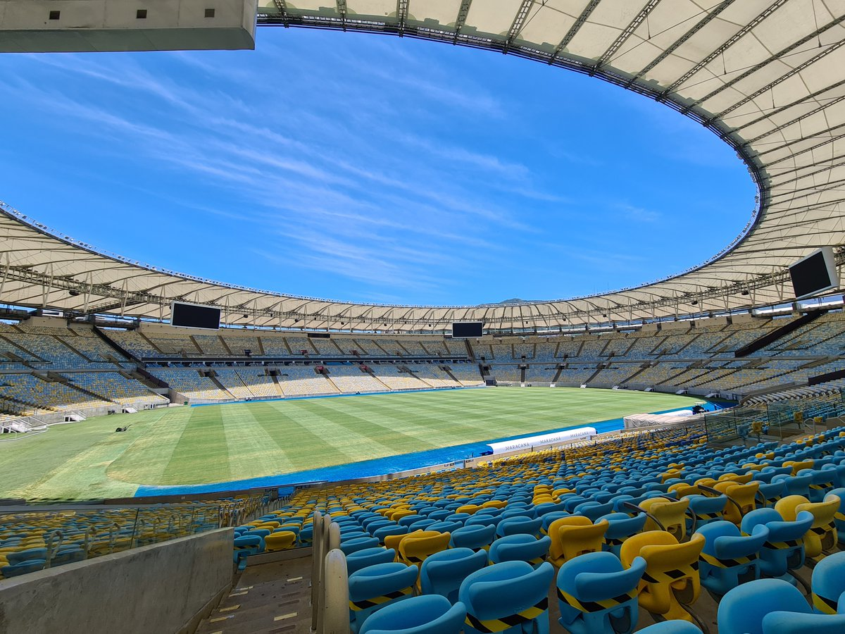 🤩 We are just 9⃣ days away from the #Libertadores Final!  🇧🇷🏟 A look inside the @maracana, getting set to host @Palmeiras and @SantosFC on January 30th!