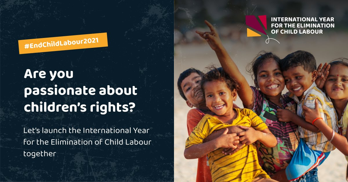 Starting in ONE HOUR, the launch event of the 1st @UN International Year for the Elimination of Child Labour.   Register here:    More info:   #EndChildLabour2021