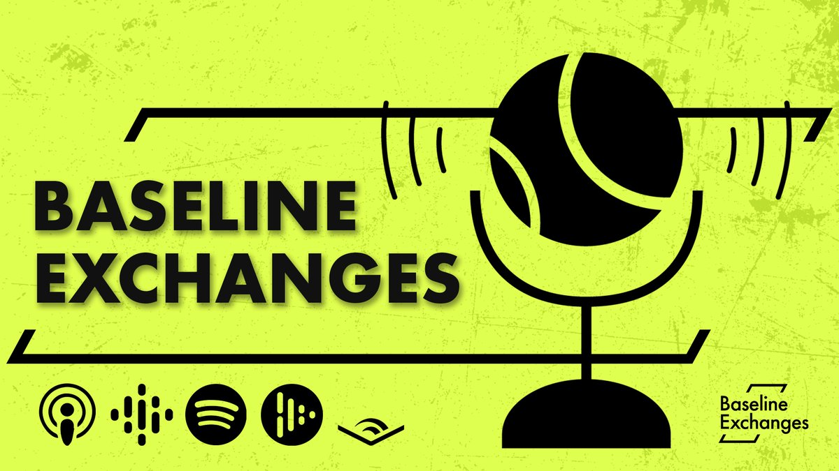 The 'Baseline Exchanges' podcast discusses topics on & off the court from across the tennis spectrum, including men's, women's & wheelchair tennis.  Baseline Exchanges is available on your favourite audio platform: 👂🎧👇   #baselinetennis #podcast #Tennis