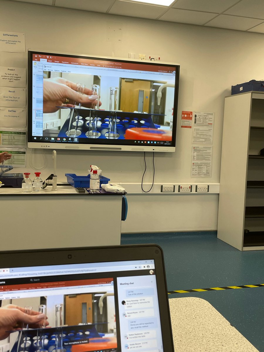 Y10 Science students carried out ion testing (using the visualiser!) in yesterday's live drop in. Keep up the good work! 🧪 #TrinityTV #TrinityTVLive