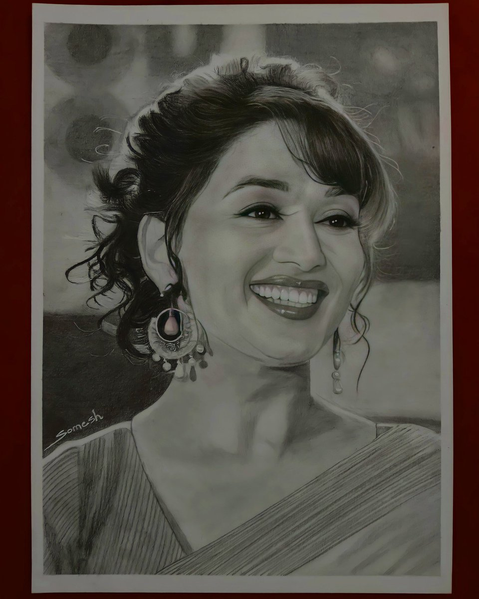 Sketch of Madhuri Dixit 😍 @MadhuriDixit #madhuridixit #sketch