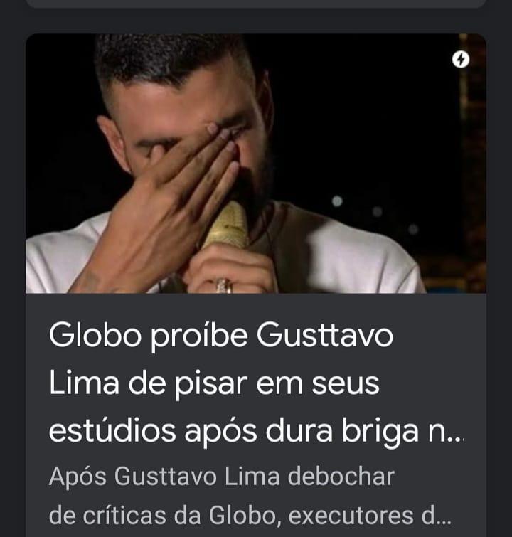 E Gustavo Lima , precisa da Globo? Kkk  😁😁🤣🤣🤣  Chora não, Bebê..    #Gusttavolima #RedeGlobo