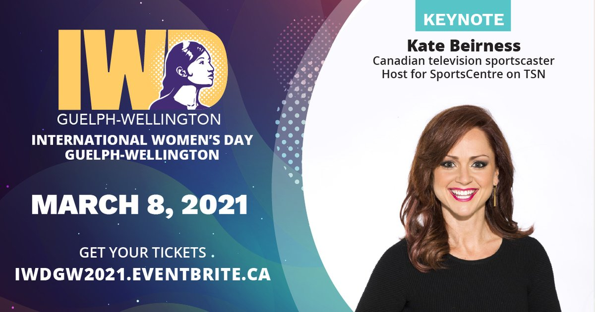 Celebrate #InternationalWomensDay March 8 @ 6:30 pm. This year's virtual #IWDGW event features keynote by @KateBeirness To register & learn more  @BCGuelphWell  #WomenofDistinction #iwdgw @GuelphChamber  @GWINetworking  @PINnetworkGW  @BMO  @YMCAsofCandKW
