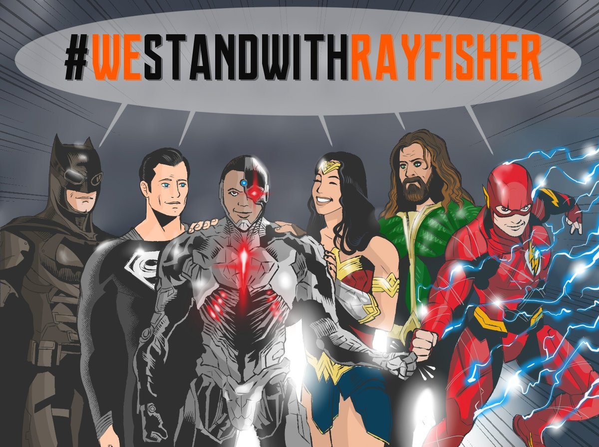 #IStandWithRayFisher and the Justice League does too.  I worked on this fan art to support @ray8fisher during this difficult times with @wbpictures ... Ray, we got your back!  #ZackSnydersJusticeLeague #BORGLIFE #RayFisher #ZackSnyder @ZackSnyder @snydercut @DCComics @WBHomeEnt