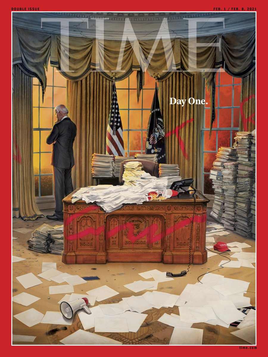 Day One–The first Biden @TIME cover by the great @TonkaOBrien w/ must-reads from @CharlotteAlter @mollyesque @aabramson @ByBrianBennett @shustry @luscombeland and many others