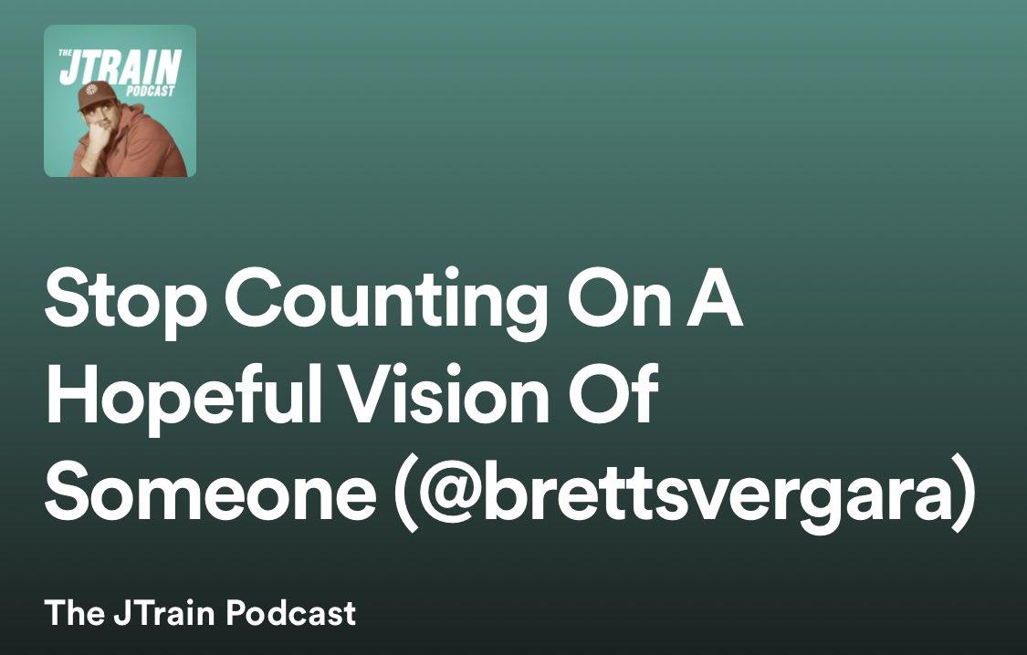 Replying to @jtrain56: NEW @JTrainPodcast with @BrettSVergara!!