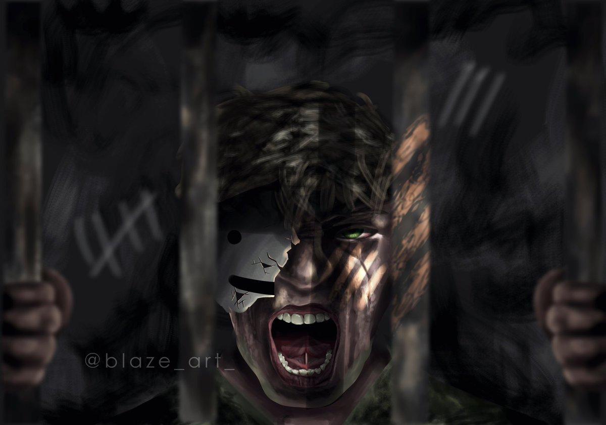 "Replying to @blaze_art_: ""locked up"" - - rts are appreciated! - [ #dreamfanart #dreamwastakenfanart @Dream__Fanart ]"