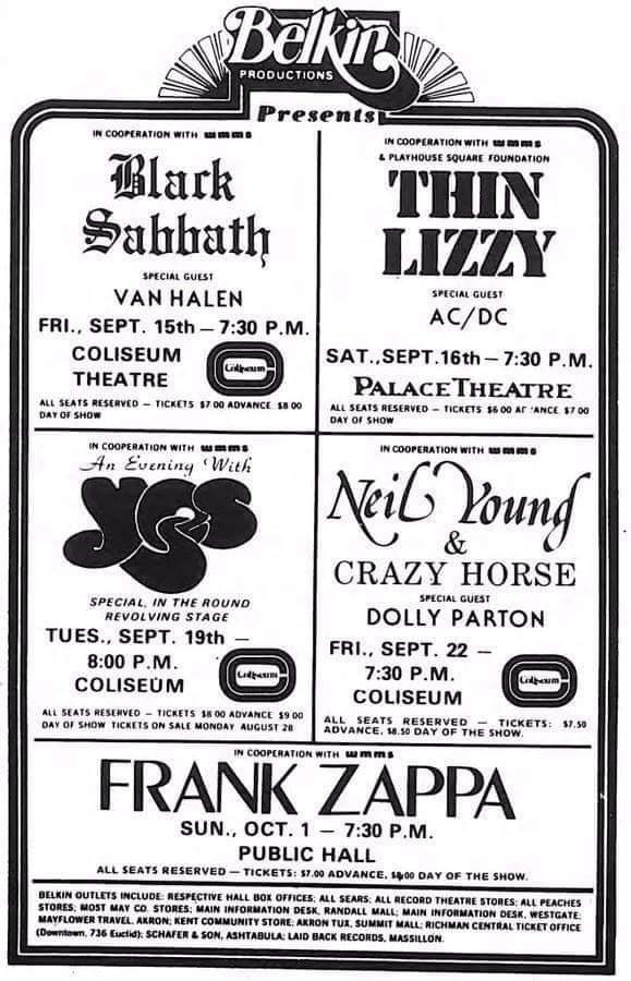 Those were the good old days ‼️  Cleveland, Ohio 1978‼️  #eddievanhalen #evh #vanhalen #zappa #frankzappa #sabbath #ozzy #thinlizzy #rocktickets #yes #neilyoung