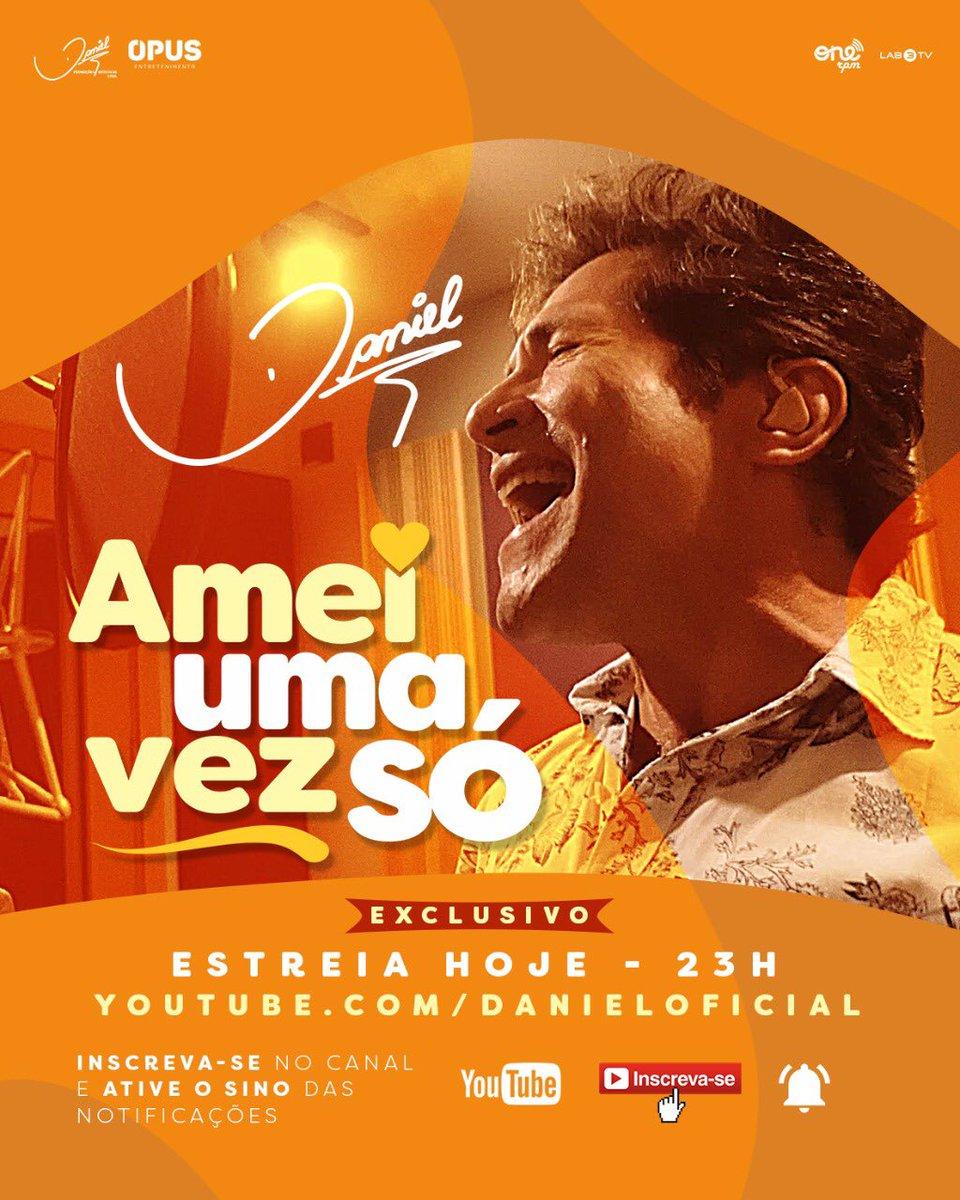 Faça agora o pre-save no seu APP preferido:    O clipe estreia no @YouTubeBrasil, hoje (21), às 23h:  (ative o lembrete e se inscreva no canal).   Lançamento: @ONErpmbr  #AmeiUmaVezSó #ProduçãoDaniel